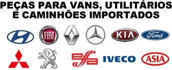 Peças para vans, ultilitários e caminhões importados